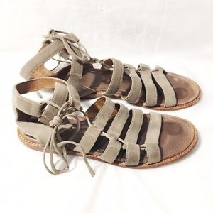 Frye Shoes - Frye Blair Side Ghillie Sandal Ash Suede Size 7.5M